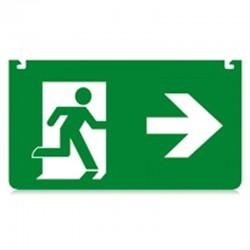 Skilt nødudgang pil højre...
