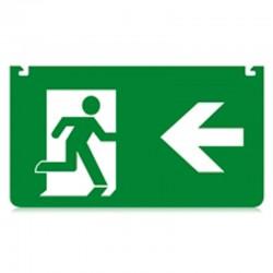 Skilt nødudgang pil venstre...
